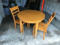 Julian Bowen dining table and chairs