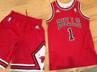 Kids Adidas Chicago Bulls vest and shorts (Age 9-11)