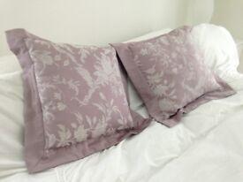 2 elegant Laura Ashley cushions with soft borders