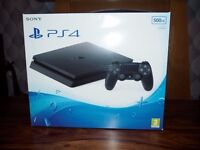 Sony Playstation 4 Slim PS4 500GB Boxed Fantastic Condition Sale or Swap