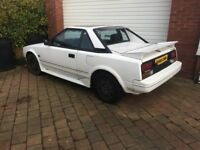 1985 Toyota Mr2 mk1 bonnet, bumper, lights, interior and exterior parts available on shelf.