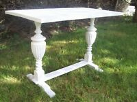 Upcycled Chalk Paint, Vintage, Sofa/Hall Table. Balustrade Legs. Shabby Chic.