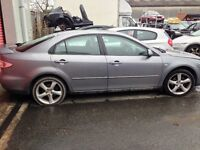 Mazda 6 Driver side door, Breaking whole car all parts available.