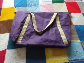 Lovely Purple Medium Ladies Bag With Matching Cosmetic Bag