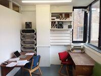 Desk Space £220 inc VAT/bills per person per month. Broadway Market