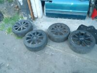 AUDI A2 17 INCH ALLOY WHEELS AND TYRES 205/40 R17