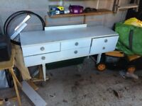 White wooden dressing table free to collector