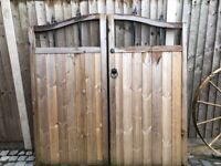 Wooden double side gates