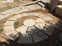 New Slaps, stones, circle patio - half a circle in hatfield