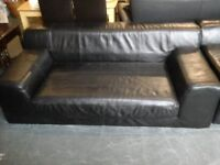 Ex John Lewis 3 and 2 seater quality leather sofas