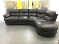 Genuine leather corner L shape sofa •free delivery