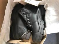 Uvex black work safety steel toe cap boots size U.K. 8 brand new