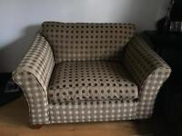 M&S Abbey Love Seat Sofa and footstool