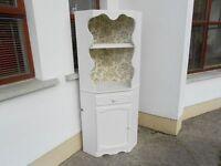 Old Pine Corner Unit Painted Cream