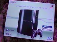 PlayStation 3 80Gb Model in Black.