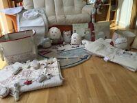 Mamas & Papas nursery bundle - rug, curtains, bumper, picture, toys, change mat, mobile & more