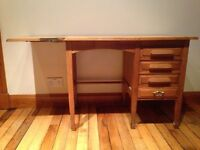 Small Vintage Oak Desk