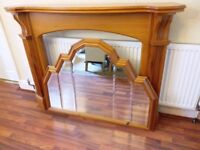 Pine Fireplace Surround and matching mirror
