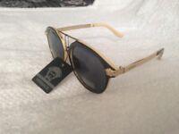 Versace Sunglasses Black / Cream