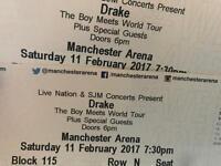 Drake Tickets Manchester, block 115