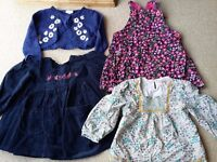 BUNDLE OF GIRLS CLOTHES TOPS DUNGAREE BOLERO AGE 2-3 YEARS
