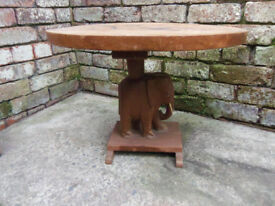 Elephant carved coffee table L 60cm W 46cm H 45cm