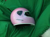 Ladies pink shark motorcycle helmet