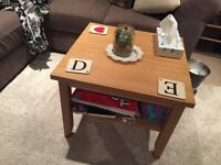 Oak pine colour small coffee table