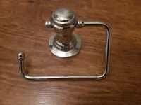 Retro Chrome Toilet Roll Holder