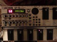 boss gt 6 guitar effects pedal