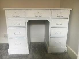 Painted solid wood desk