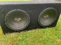 Two 10 inch subs in box