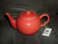 WHITTARD OF CHELSEA -new tagged- BRIGHT RED TEA POT (appx 150mm)