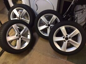 "VW AUDI Wheels 16"" and Dunlop tyres- all brand new"