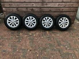"Genuine VW T5 T6 Transporter 16"" alloys, not a mark on them"