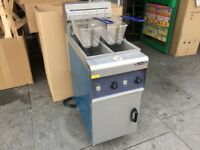 NEW ELECTRIC TWIN TANK FRYER CATERING COMMERCIAL FAST FOOD TAKE AWAY RESTAURANT CAFE KEBAB CHICKEN