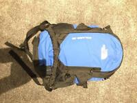 The North Face Blue and Black Bag