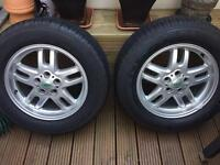"""Land Rover 18"""" alloy wheels and tyres - New Nexen Roadial Tyres (8mm tread)"""