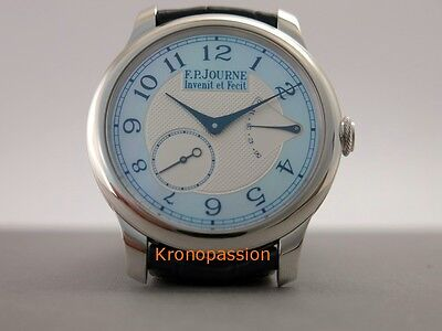 F.P.Journe Souverain Chronometre Platinum Blue Mother of Pearl Boutique Edition