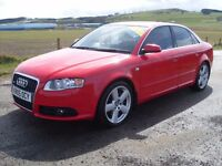 2005 AUDI A4 2.0 TFSI S LINE RED PETROL MOT APR 17 £4750 OLDMELDRUM