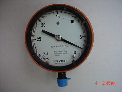 Ashcroft 4 12 Pressure Gauge Vacuum 30-0