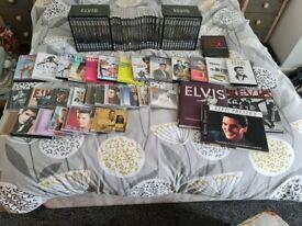 Large selection of elvis presley dvds ,cds books