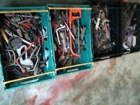 Tools , job lot , 4 trays worth , automobilia , DIY , hammers , saws
