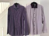 2 x men's long sleeved shirts 15.5 collar £3.00 each