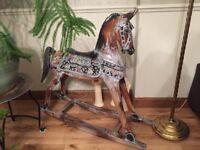 Vintage retro style rocking horse