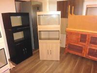 brand new 2x2ft vivariums and cabinet in lisa oak
