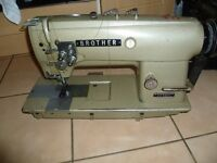 BROTHER 1/4 Twin Needle, Needle Feed Industrial sewing machine