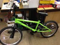"Trax BMX Bike Bicycle Green 20"" Wheels / Steel F"