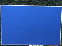 Bi-Office Maya Blue Felt Notice Board Aluminium Frame 180x120cm