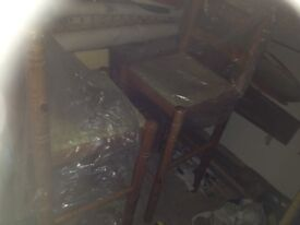 3 Tall wooden chairs